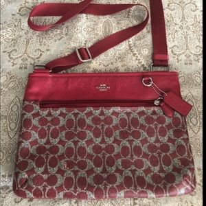 Coach Red C Crossbody Bag Excellent Condition!